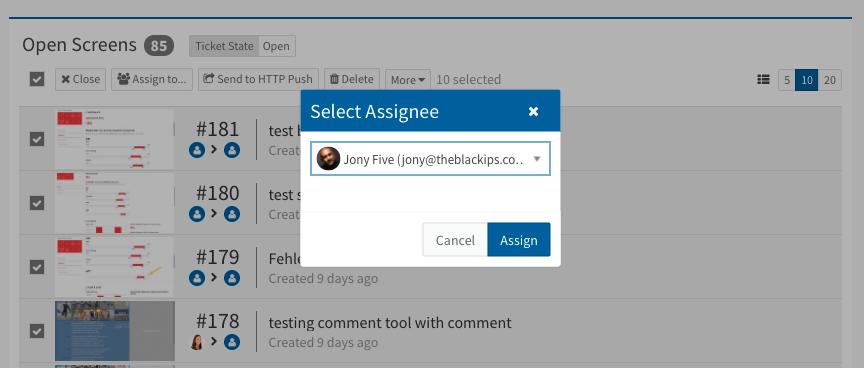 bulk editing options bug tracking