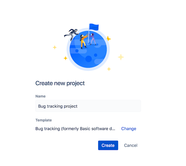 create a bug tracking project JIRA