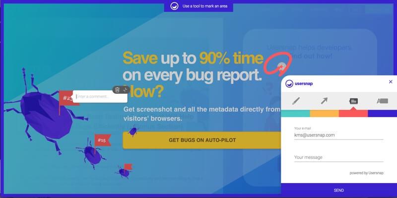 Feedback widget via Chrome Extension