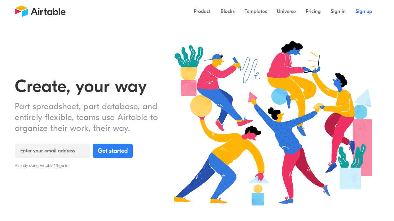 Airtable - organize your projects