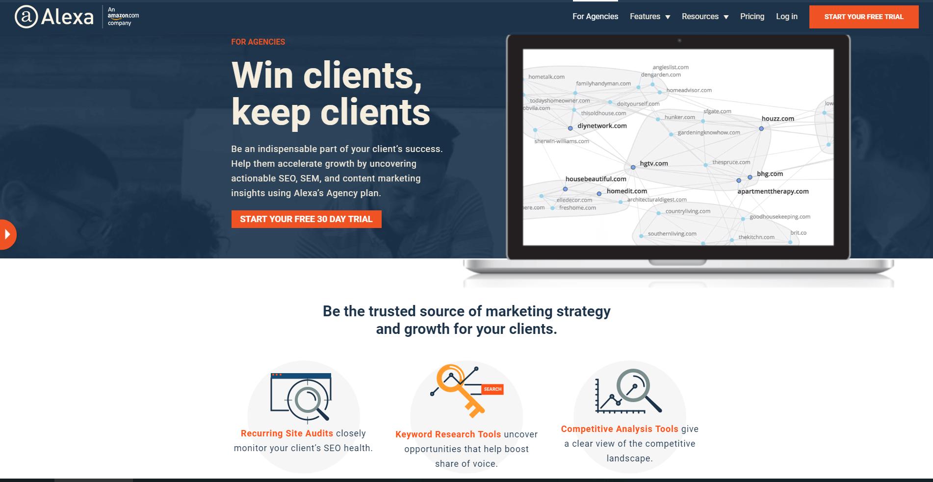 Alexa - win clients, keep clients