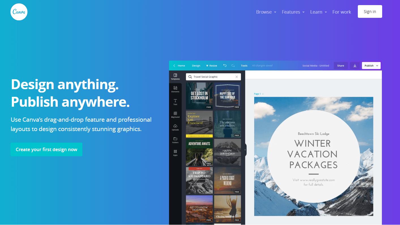 Canva - design anything, publish anywhere