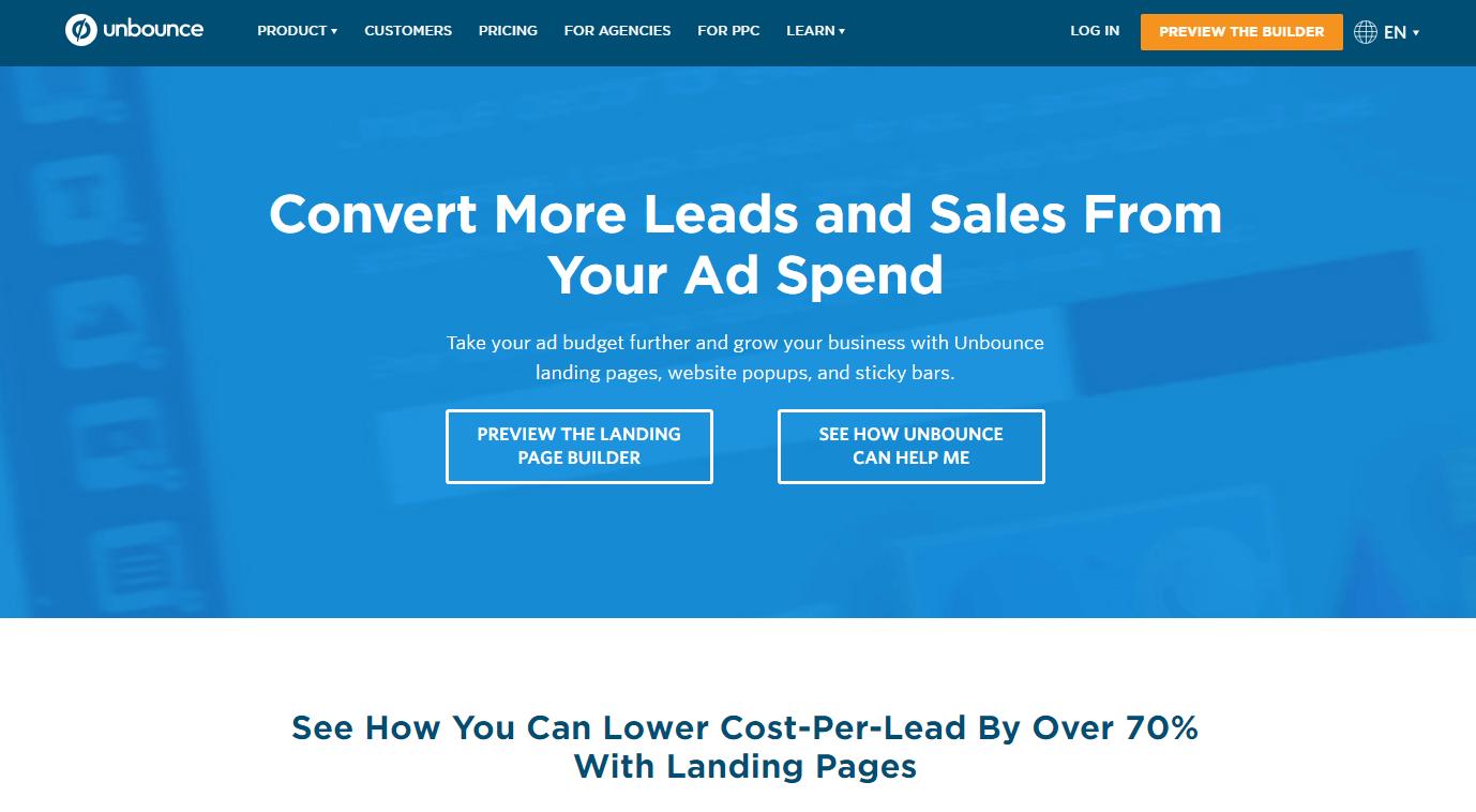 Unbounce - convert more leads