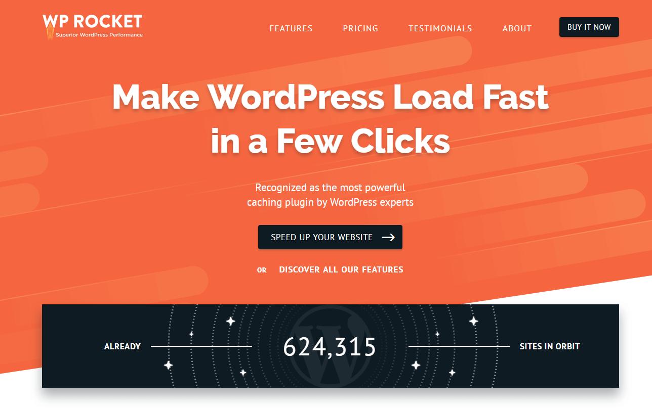 WP Rocket - make wordpress load fast