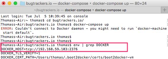 Docker für Mac Fehler
