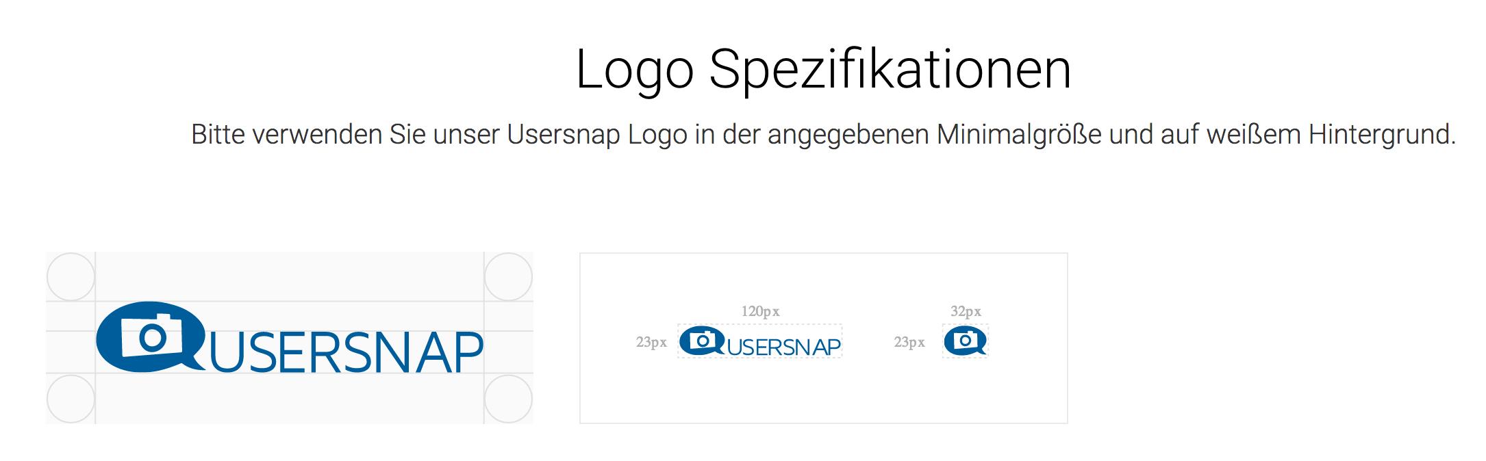 logo spezifikationen