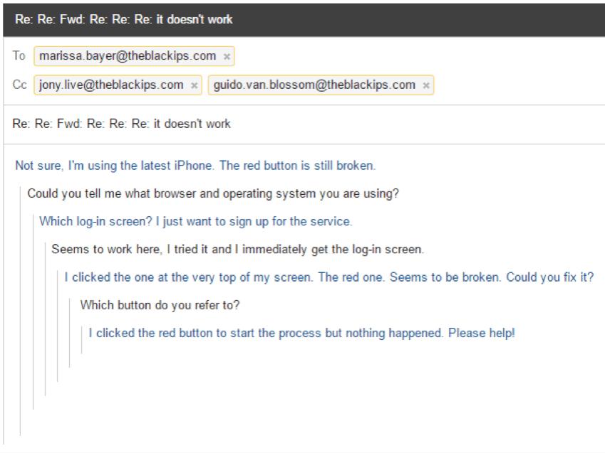 Kundenservice Email
