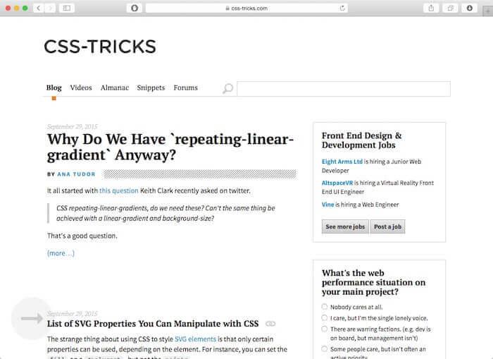CSS-Tricks-web-design-blog