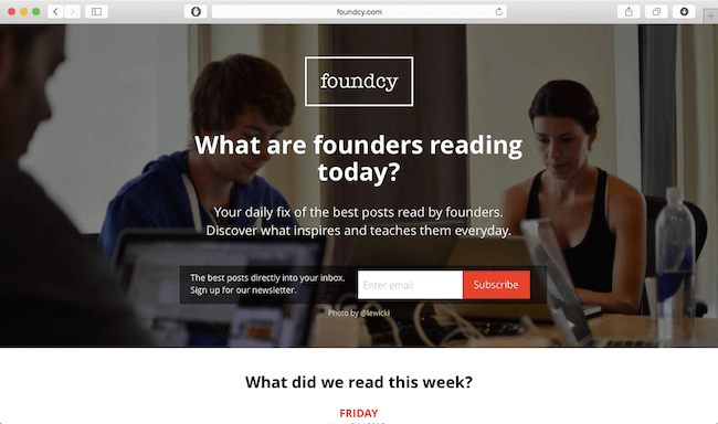 foundcy-newsletter