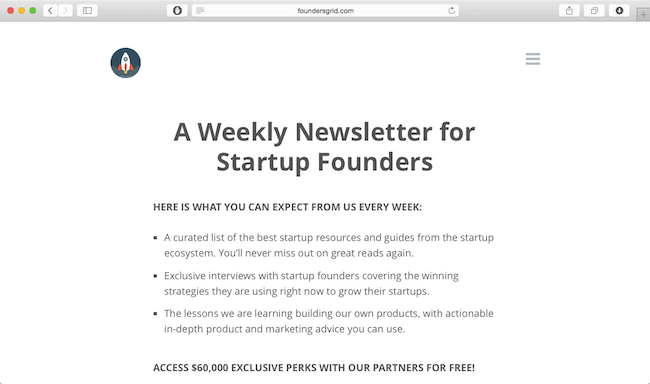 foundersgrid-newsletter