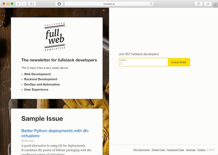 fullweb-newsletter-full-stack-developers