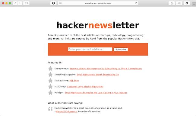 hacker-news-letter