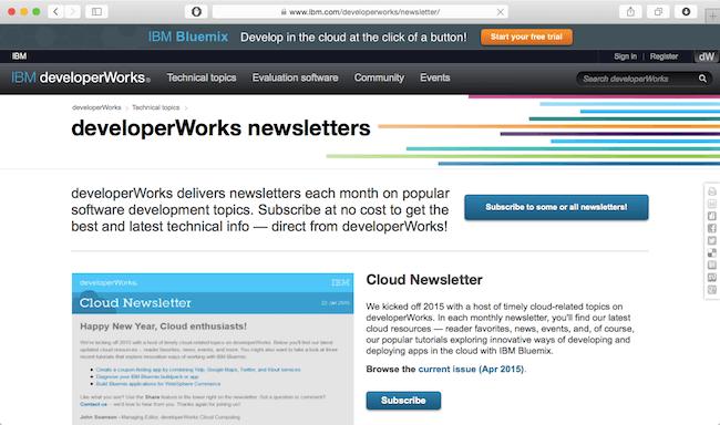 ibm-developerworks-newsletter