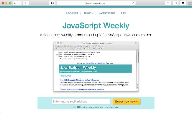 javascript-weekly-newsletter