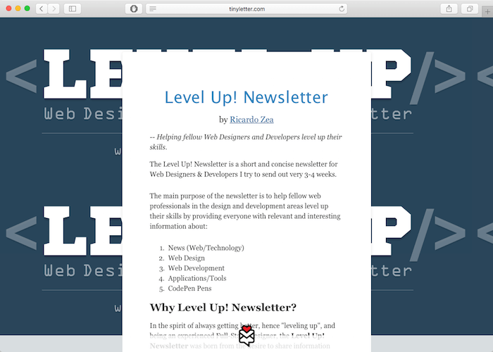 levelup-newsletter-development