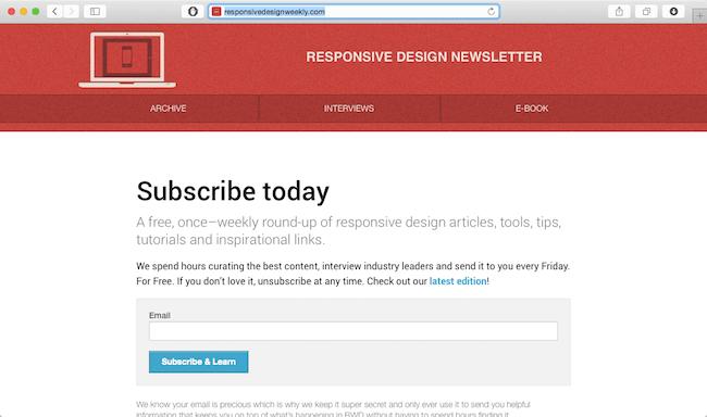 responsive-design-weekly-newsletter
