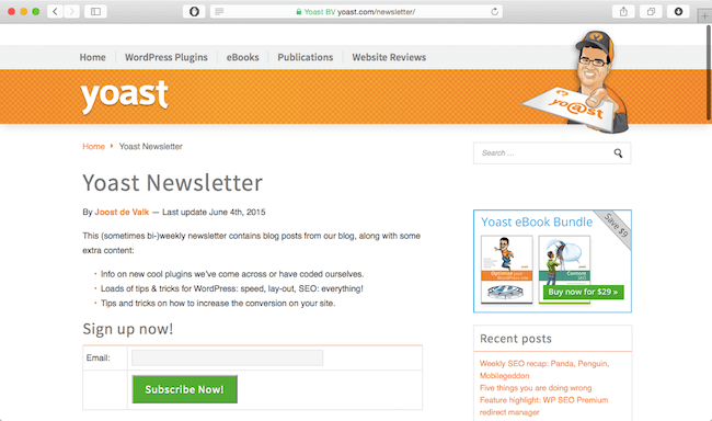 yoast-wordpress-newsletter